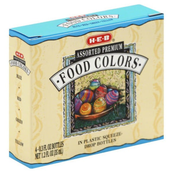 H-E-B Assorted Premium Food Colors