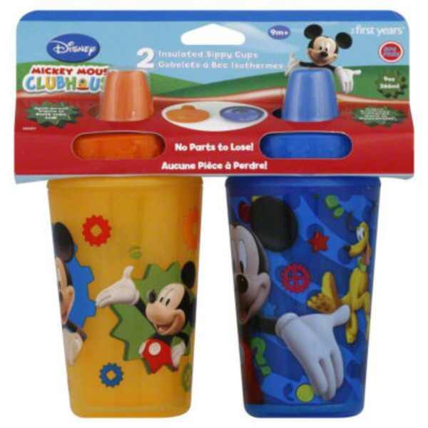 The First Years Disney Mickey Mouse Clubhouse Insulated Sippy Cups 9M+