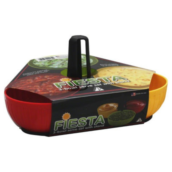 Arrow 3-Bowl Serve Set With Stand, Sleeve