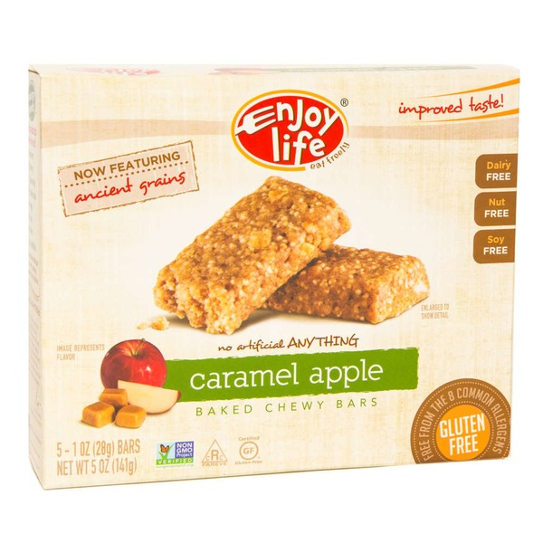 Enjoy Life Baked Chewy Bars Caramel Apple - 5 CT