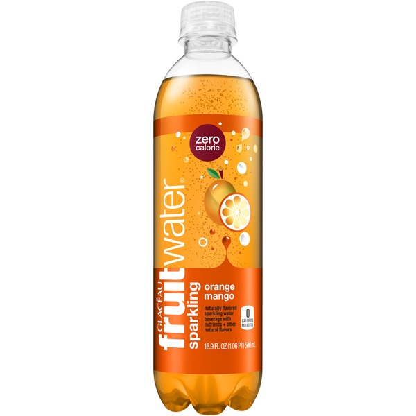 Glaceau Fruitwater Orange Mango Sparkling Water Beverage
