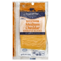 Lucerne Cheese Slices Thin Medium Cheddar