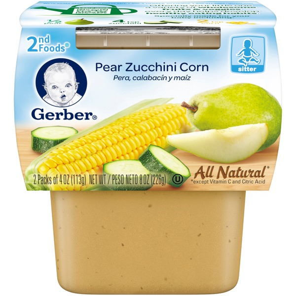 Gerber Foods Pear Zucchini Corn Baby Food