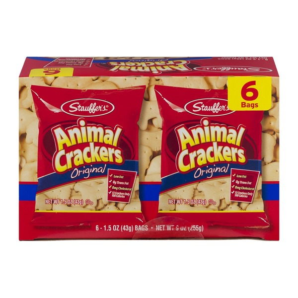 Stauffer's Animal Crackers Original - 6 CT