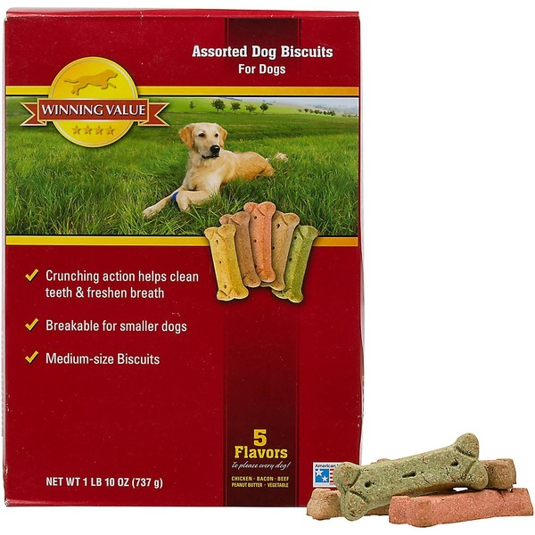 Winning Value Assorted Dog Biscuits, Medium-Size