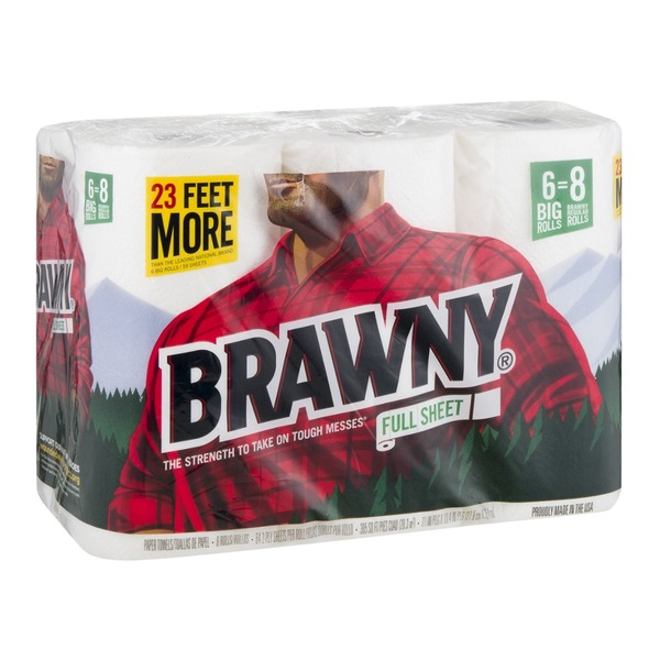 Brawny Full Sheet Paper Towels, Big Rolls