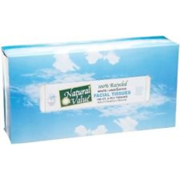 Natural Value 100% Recycled Facial Tissue