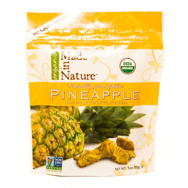 Made in Nature Dried and Unsulfured Organic Pineapple