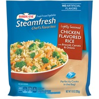 Steamfresh Chef's Favorites Lightly Seasoned with Broccoli Carrots & Onions Chicken Flavored Rice