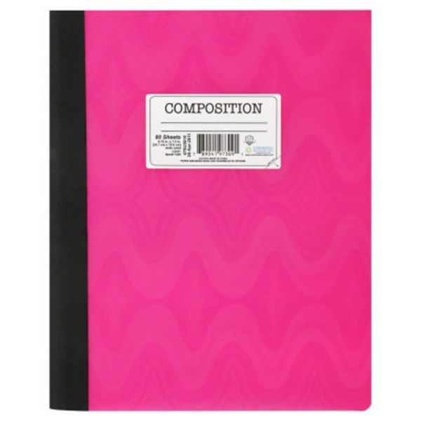 University Of Style Composition Book, Pink