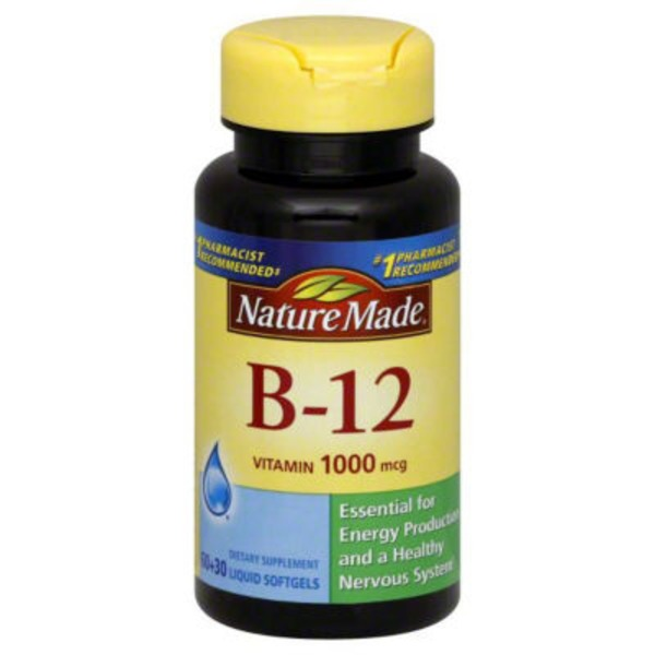 Nature Made B-12 Vitamin 1000mg Dietary Supplement Liquid Softgels - 90 CT