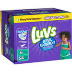 Luvs Super Absorbent Disposable Diapers Jumbo Pack Size 6