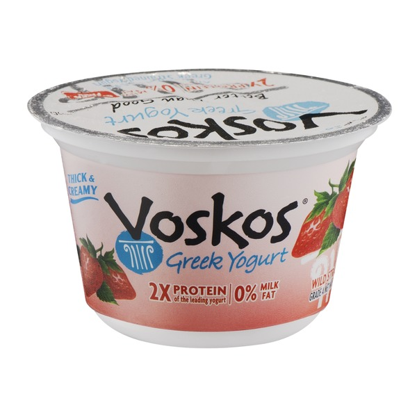 Voskos Greek Nonfat Yogurt, Wild Strawberry
