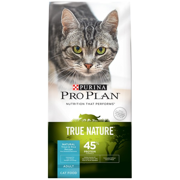 Pro Plan Cat Dry True Nature Adult Trout & Rice Recipe Cat Food