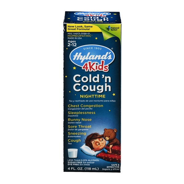 Hyland's Cold 'n Cough 4 Kids Night Time Syrup