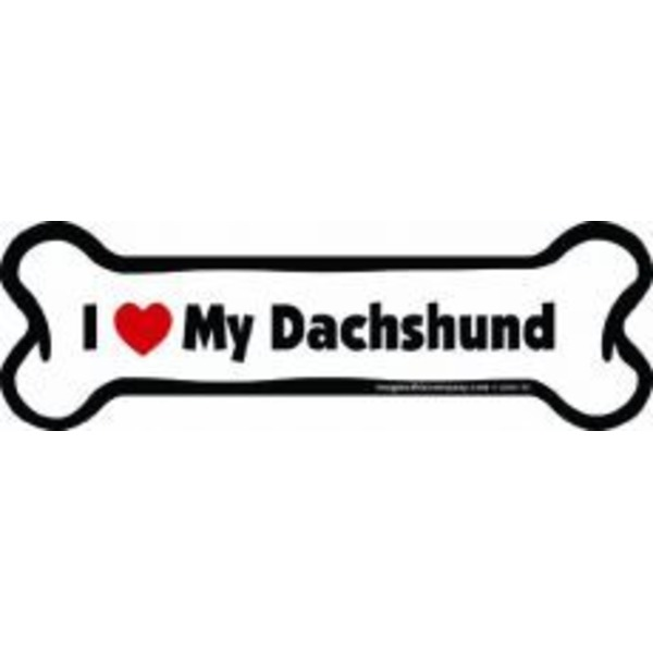 Dachshund Bone Car Magnet