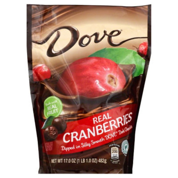 Dove Real Cranberries Dipped In Dark Chocolate
