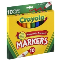 Crayola Markers Broad Line Classic Colors