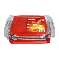 Pyrex Easy Grab with Lids Value-Plus Pack Glass Bakeware - 4 PC