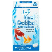Jungle Bowl Buddies Water Conditioner for Aquariums, 8 count