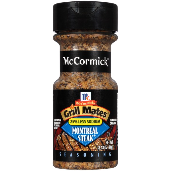 McCormick Grill Mates Montreal Steak 25% Less Sodium Seasoning