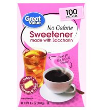 Great Value Sweetener with Saccharin Packets, No Calorie, 3.5 oz, 100 Count