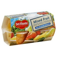 Del Monte Mixed Fruit No Sugar Added in Water Fruit Cups