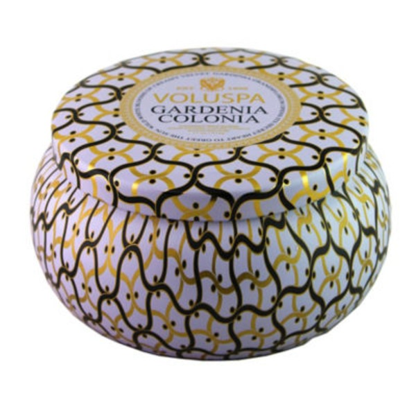 Voluspa 2 Wick Maison Metallo Candle, Gardenia Colonia