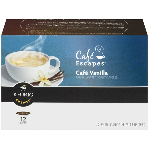 Cafe Escapes Cafe Vanilla K-Cup Packs Coffee