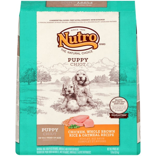 Nutro Puppy Chicken Whole Brown Rice & Oatmeal Recipe Dog Food