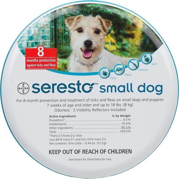 Seresto Flea And Tick Collar For Dogs For Small Dogs