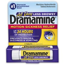 Dramamine Motion Sickness Relief Tablets - 8 CT