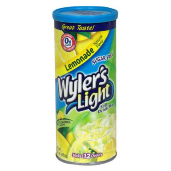 Wyler's Light Sugar Free Lemonade Soft Drink Mix, Caffeine Free