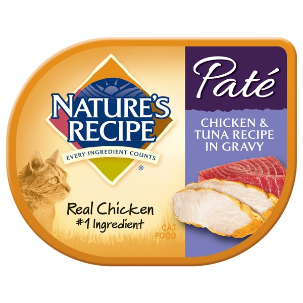 Nature's Recipe Pate Real Chicken & Tuna Recipe In Gravy Cat Food