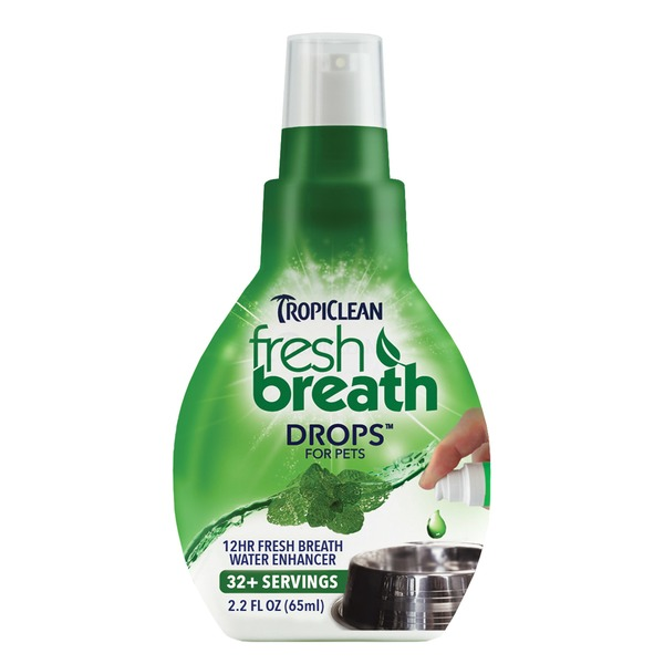TropiClean Fresh Breath Pet Water Enhancer Drops 2.2 Fl. Oz.