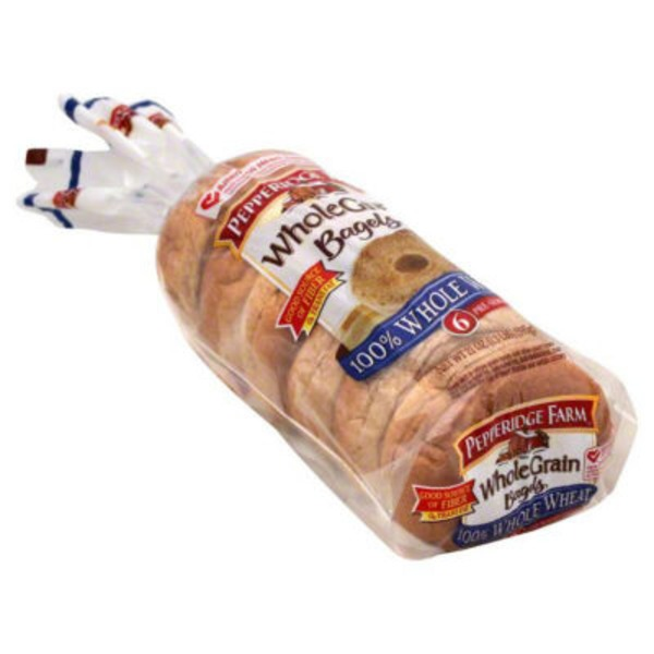 Pepperidge Farm 100% Whole Wheat Whole Grain Bagels