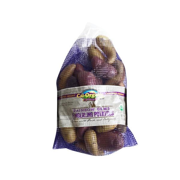 Cal-Organic Farms Organic Rainbow Gem Fingerling Potatoes, Bag