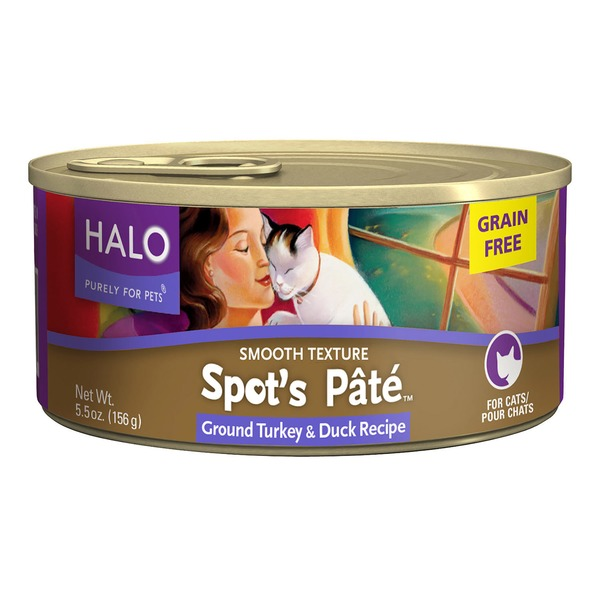 Halo Grain Free Turkey & Duck Spot's Pate Cat Food