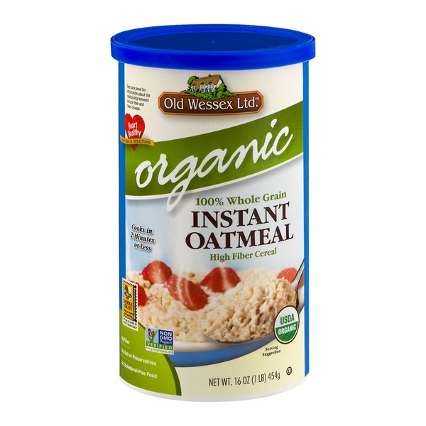 Old Wessex Ltd. Organic Instant Oatmeal High Fiber Cereal