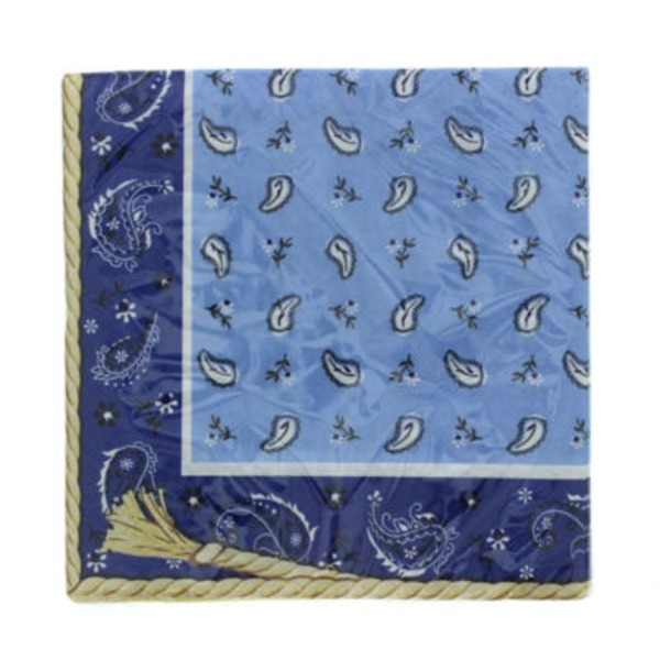 Creative Converting Blue Bandana Lunch Napkins