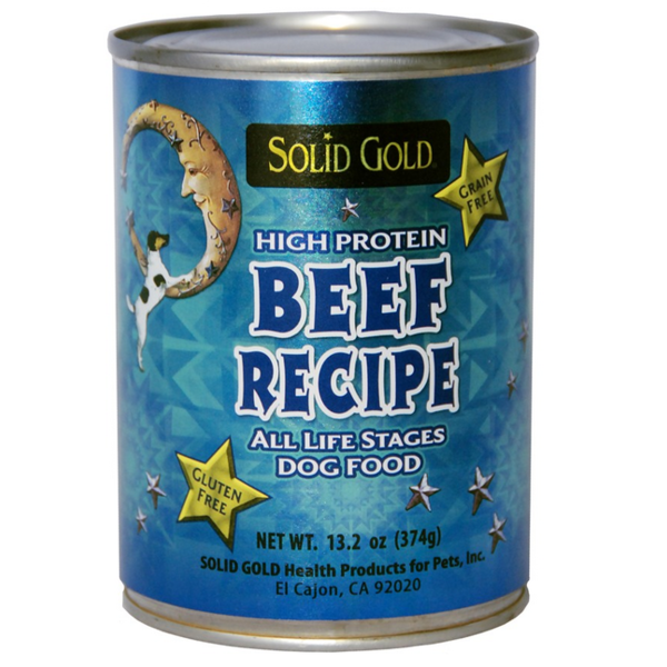 Solid Gold High Protein Beef Recipe Grain & Gluten Free Canned Dog Food