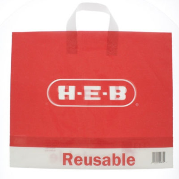 H-E-B Red Plastic Reusable Bag