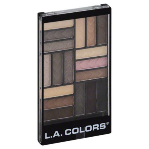 L.A. Colors 18 Colors Eyeshadow Palette Downtown Brown