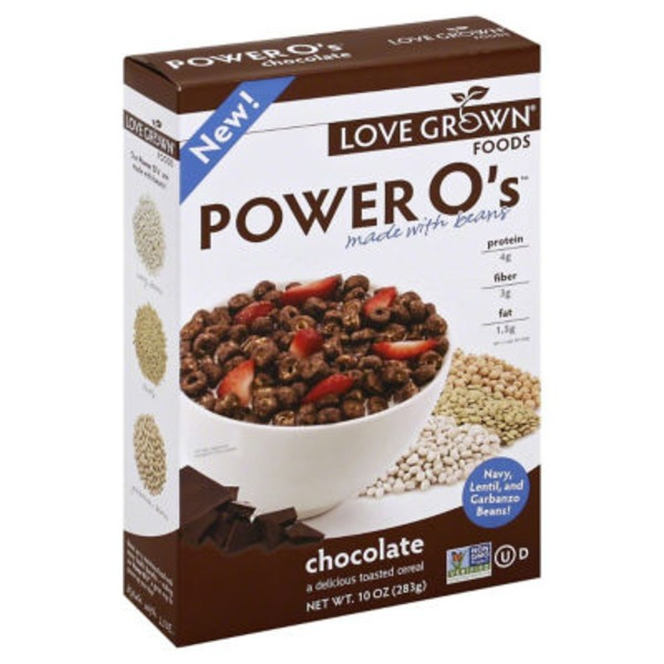 Love Grown Foods Power O's Toasted Cereal Chocolate