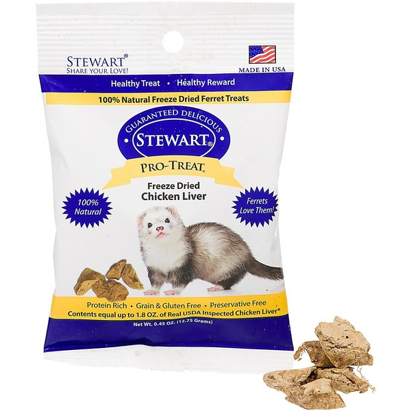 Gimborn Stewart Pro Treat Freeze Dried Chicken Liver Ferret Treats .45 Oz.