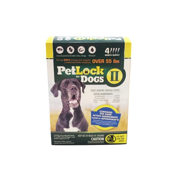 PetLock 3 Way Flea Protection Kills Adult, Larvae & Eggs for Dogs II