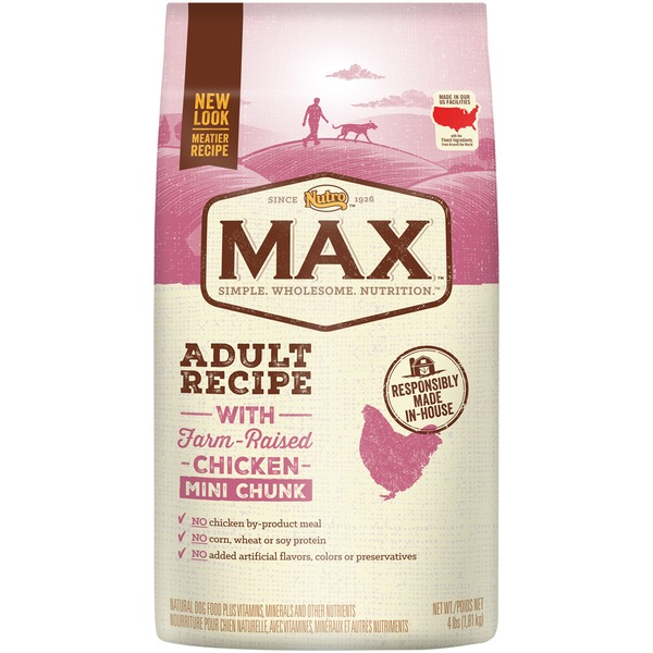 Nutro Max Adult Recipe with Farm-Raised Chicken Mini Chunk Dog Food