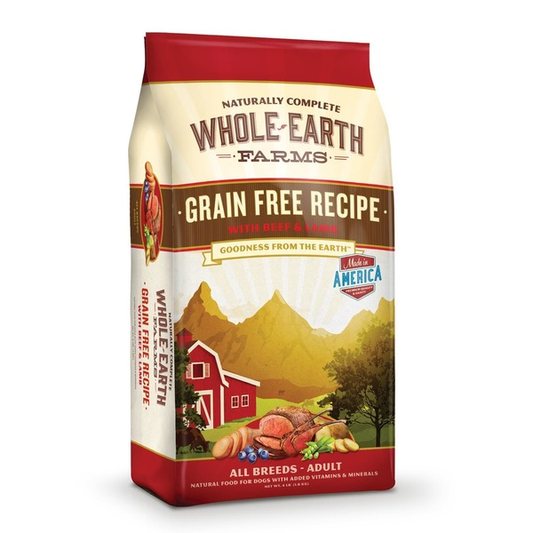 Whole Earth Farms Grain Free Beef & Lamb Dog Food 4 Lbs.