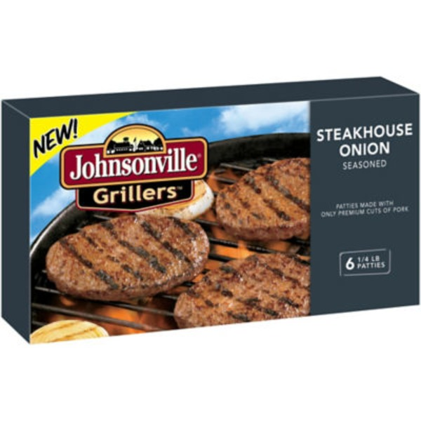 Johnsonville Grillers Steakhouse Onion Seasoned Patties