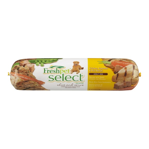 Freshpet Select Slice & Serve Chicken, Vegetable & Rice Recipe Dog Food